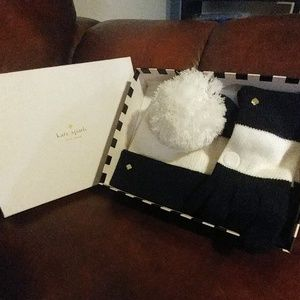 New Kate Spade beanie and gloves in the gift box